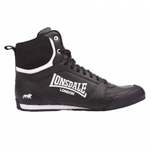 Lonsdale Kids Bout Jnr Boys Boxing Boots Lace Up Sport Shoes Trainers Footwear Black/white Uk 5.5
