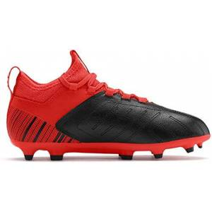 Puma Kids Boys One 5.3 Junior Fg Football Boots Firm Ground Lace Up Studs Knit Black/nrgyred Uk 5.5 (38.5)