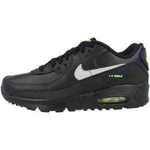 Nike Boys Cv9608-001 Nike Air Max 90 Gs Kids Black/light Smoke Grey/volt Cv9608-001 Black Size: 5.5
