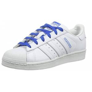 Adidas Unisex Kids Superstar J Gymnastics Shoes, White (Ftwr White/ftwr White/blue Ftwr White/ftwr White/blue), 5.5 Uk
