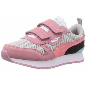 Puma R78 V Ps Sneaker, Gray Violet Salmon Rose Foxglove, 10 Uk Child