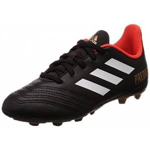 Adidas Unisex Kids' Predator 18.4 Fxg Footbal Shoes, Black (Cblack/ftwwht/solred Cblack/ftwwht/solred), 5.5 Uk