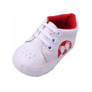 YICHUN Baby Boys Shoes Prewalker Shoes Football Crib Leisure Shoes Soft Shoes Casual Sneaker (Sole Length:13cm/5.1 inches, Red)