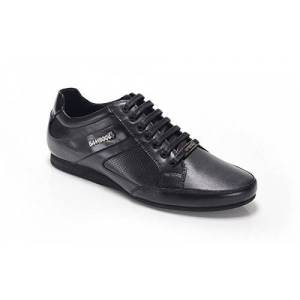 Bamboo A Trento Boys Leather Lace Up Trainer Shoes Black 36