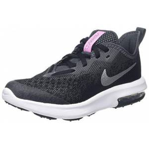 Nike Girls Air Max Sequent 4 Low-Top Sneakers, Black (Black/metallic Silver-Anthracite-White 001), 5 4.5 Uk