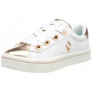 Skechers Girl'S Hi Lite-Medal Toes Trainers, White (White/rose Gold Wtrg), 4 Uk (37 Eu)