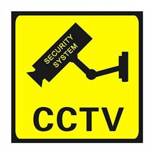 Garciakia CCTV Surveillance Security 24 Hour Monitor Camera Warning Stickers Sign Lables