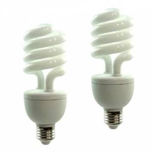 DynaSun 2x SYD26 150W E27 Professional Daylight Fluorescent Balanced Energy Saving Bulb