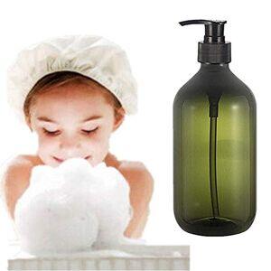 TUANTALL Liquid Soap Dispenser Pump Bottle Shampoo Soap Lotion Bottle For Bathroom Vanity Countertops Hand Lotion & Essential Oils300ml/500ml green,300ml