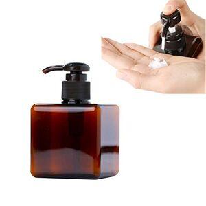 TUANTALL Soap Dispenser Plastic Liquid Soap Dispenser Brown Pump Black Bottle For Kitchen Sink Bathroom Vanity Countertops Hand Lotion & Essential Oils,100ml/150ml/250ml 250ml