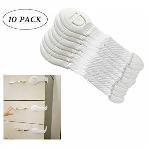 WESEEDOO Baby Proof Cabinets Locks Straps Locks for Kitchen Cupboards Drawers, Appliances, Toilet Seat, Fridge and Oven No Tools