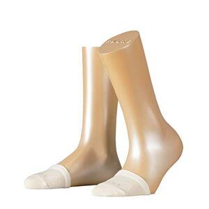 FALKE Women's Toe Sock Liner Socks - Cotton Rich, Off-White (Cream 4019), One size fits all, 1 Pair