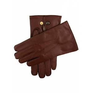 Dents Mendip Men's Wool Lined Leather Officer's Gloves English Tan 8.5 ENGLISH TAN 8.5