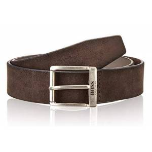 Boss Hugo Boss Men's Jordin Soft Suede Leather Belt, Medium Grey, 38