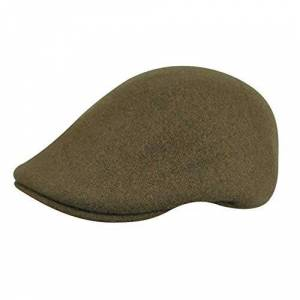 Kangol Seamless Wool 507 Flat Cap, Green (Camo), Medium