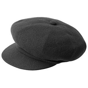 Kangol Wool Spitfire Flat Cap, Grey (Dark Flannel), Large