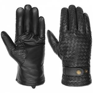 Stetson Sheep Nappa Leather Gloves Men - full-fingered mens with lining Autumn-Winter - 9 HS black