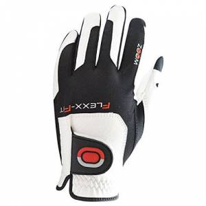 Zoom Mens Tour Golf Gloves - White/Black/Red - One Size - Pack of 1