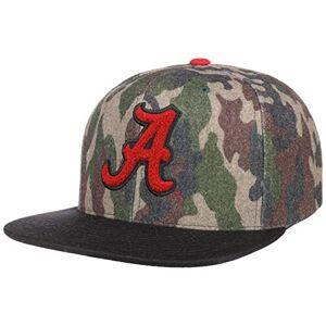 Mitchell & Ness NCAA Camo Flannel Alabama Cap& Baseball Cap Flat Brim (One Size - Camouflage)