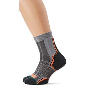 1000 Mile Men's Trail Twin Pack Running Socks, Grey/Orange, 12-14 UK/X-Large