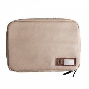 Lanzhen-Ry Durable Clutch Waterproof Business Casual Canvas Grab Storage Bag Coin Purse (Color : Beige, Size : S)