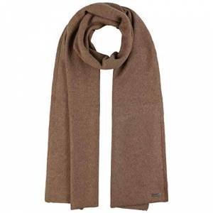 Stetson Cashmere Wool Knit Scarf Women/Men - Made in Italy winter Autumn-Winter - One Size dark beige
