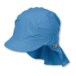 Sterntaler Boys Peaked Neck-Guard Cap, Age: 4-6 Years, Size: 55 cm, Blue