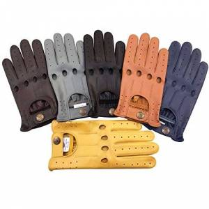 PRiME LEATHER TOP QUALITY REAL SOFT LEATHER MENS WITHOUT LINNING DRIVING GLOVES RETRO GLOVE IN TEN BEAUTIFUL COLOURS (M, RED)
