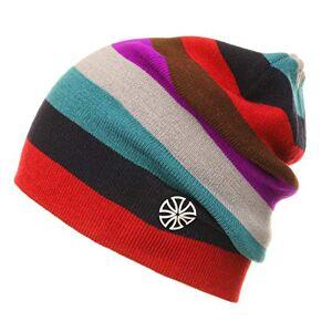 Yingjia Owntop Women Men Youth Rainbow Striped Ski Hat - Winter Snowboard Knit Beanie, Unisex Hip Hop Skullies Double Sides Wearable Baggy Slouchy Cap Acrylic Fiber