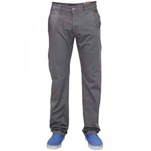 Jack South Mens Chinos Trousers Slim Fit Jeans Stretch Straight Leg Pants Work Bottoms Booho Dark Grey 38R