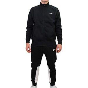 Nike Men's M NSW CE TRK SUIT FLC Tracksuit, black/Black/White/(white), L