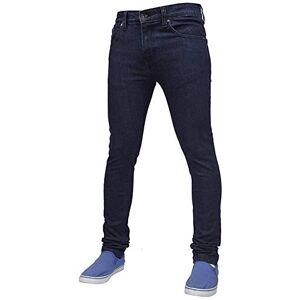 True Face Mens Jeans Skinny Denim Pants Stretch Fit Trouser Zip Fly Elasticated Cotton Bottoms Casual Wear 5 Pockets 021 Dark Blue Waist 38 R