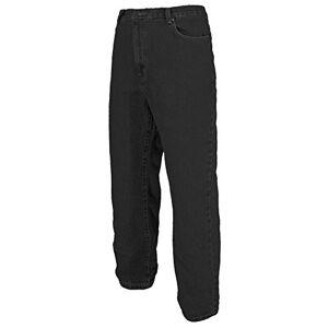 Mens Work Jeans Heavy Duty Tuff Straight Regular/Short/Long Leg 28-50 Waist (38 (Regular), Black)