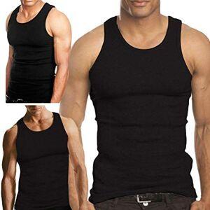 """Thread Linen Mens Vest Weight 100% Cotton Sleeveless Vests Summer Tank Top Underwear Pack of 3 White (Black, Medium (35-39""""))"""