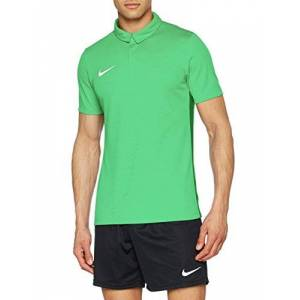 Nike Men Dry Academy 18 Short Sleeve Polo - Light Green Spark/Pine Green/White, 2X-Large