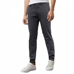 westAce Mens Skinny Stretch Chino Trousers Super Stretch Jeans Casual Pants (W38 x L32 (38R), Dark Grey)