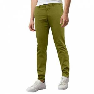 westAce Mens Skinny Stretch Chino Trousers Super Stretch Jeans Casual Pants (W38 x L32 (38R), Olive)