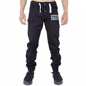 Arrested Development Mens Chino Joggers Jeans Black 38R