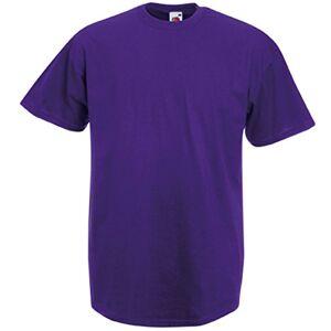 Fruit of the Loom Men's Short Sleeve T-Shirt - purple - L