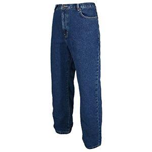 Mens Work Jeans Heavy Duty Tuff Straight Regular/Short/Long Leg 28-50 Waist (38 (Regular), Blue)