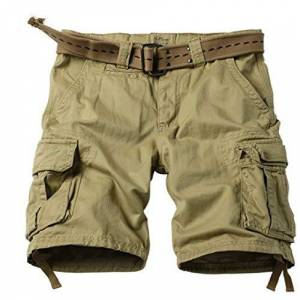 Summer Korean Style Army Green Cargo Shorts Men Loose Washing Multi Pocket Army Tactical Cargo Shorts for Men Size 29 42