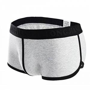 Men's Underwear,Cotton Sexy of Underpants Classic Pouch Shorts Men Brief Low Soft Rise Breathable,by Lialbert Gray