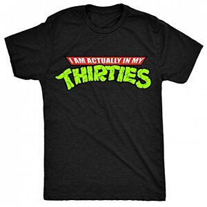 8TN I'm Actually in My Thirties Mens T Shirt - Black - Medium