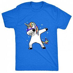 8TN Dabbing Unicorn Mens T Shirt - Blue - X-Large