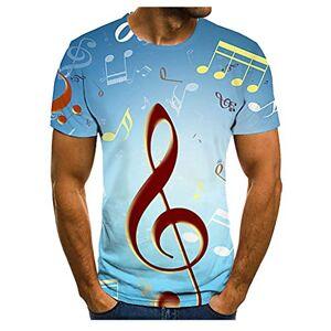 Men's Colorful 3D Print T-Shirt Short Sleeve Music Festival Casual Tees Tops Blouse