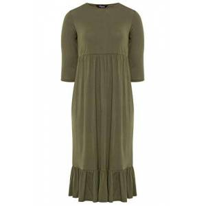 Yours Clothing Womens Plus Size Smock Midi Dress