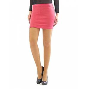 YESET Mini Skirt Pencil Skirt Mini Skirt Business Casual Fitted Stretch - corallenrot, XXL-XXXL