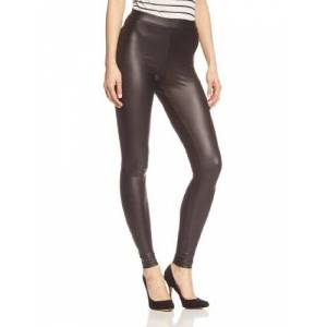 PIECES Women's NEW SHINY LEGGINGS NOOS Leggings, Black, 38 (Manufacturer size: M/L)