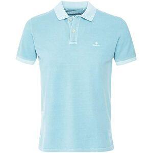 GANT Men's Sunfaded Rugger Polo Shirt L Turquoise