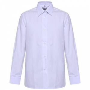 """Comfort-Style Girls School Blouse Long Sleeve Shirt ~ Ladies Uniform UK Size 22 to 46 Summer Cloth Womans Dresses Office Formal Shirts (White, 46"""" Ladies Size 24)"""